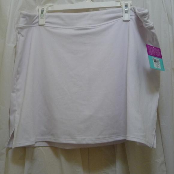 1ac349b7af7eb Tranqulity Skort White Stretch Golf Tennis Yoga XL